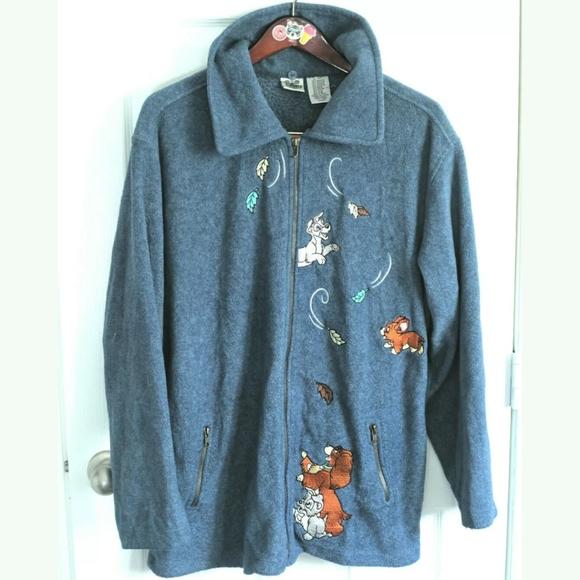 Disney Catalog lady and the Tramp Fleece jacket